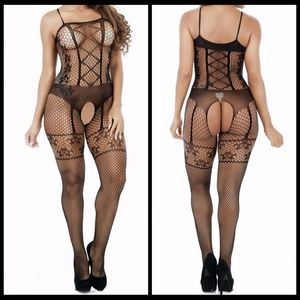 ❤️NEW Sexy Open Crotch Bodystocking Lingerie #L013